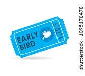 early bird ticket icon....   Shutterstock .eps vector #1095178478