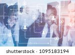 members of a diverse business...   Shutterstock . vector #1095183194