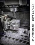 metalworking cnc milling... | Shutterstock . vector #1095187184