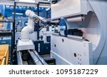 robotic arm production lines... | Shutterstock . vector #1095187229