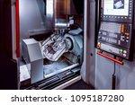 metalworking cnc milling... | Shutterstock . vector #1095187280