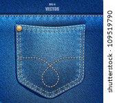 Jeans Pocket. Denim Background...