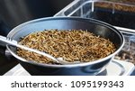 frying pan full of roasted... | Shutterstock . vector #1095199343