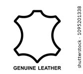 leather icon  flat leather... | Shutterstock .eps vector #1095201338
