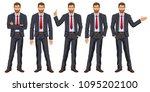 man in business suit with tie....   Shutterstock . vector #1095202100