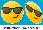 smiling face with sunglasses... | Shutterstock .eps vector #1095205880