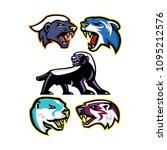mascot icon illustration set of ... | Shutterstock .eps vector #1095212576