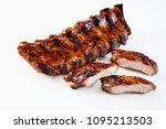 barbecued and marinated sticky... | Shutterstock . vector #1095213503