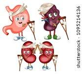 cartoon illustration of sad... | Shutterstock .eps vector #1095214136