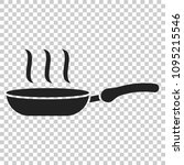 frying pan icon in flat style.... | Shutterstock .eps vector #1095215546