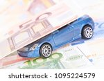 car and money concept.... | Shutterstock . vector #1095224579