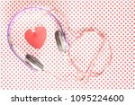love music concept with... | Shutterstock . vector #1095224600