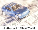 car and money concept.... | Shutterstock . vector #1095224603