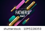 happy fathers day. vector... | Shutterstock .eps vector #1095228353