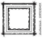 hand drawn vector frames.... | Shutterstock .eps vector #1095230459
