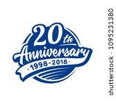 20 years anniversary design... | Shutterstock .eps vector #1095231380