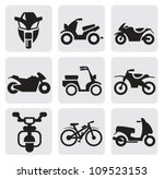 Motorcycles And Bicycles Set
