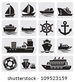 boat and ship icons set | Shutterstock .eps vector #109523159