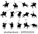 knights and medieval warriors... | Shutterstock .eps vector #109523324