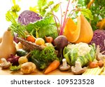 still life with autumn... | Shutterstock . vector #109523528
