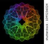 spectrum ornate spirographic 3d ... | Shutterstock .eps vector #1095236024
