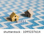 miniature house model with ... | Shutterstock . vector #1095237614