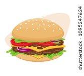 isolated vector illustration of ... | Shutterstock .eps vector #1095247634