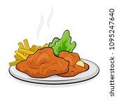 german or austrian dish... | Shutterstock .eps vector #1095247640