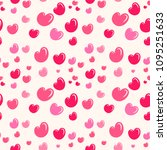 romantic seamless pattern with... | Shutterstock . vector #1095251633