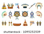north american indians culture... | Shutterstock .eps vector #1095252539