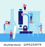 laboratory   flat design style... | Shutterstock .eps vector #1095253979