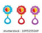 Baby Rattle  Vector Illustration