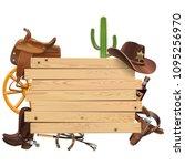 vector western board with... | Shutterstock .eps vector #1095256970