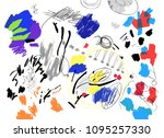 contemporary art background.  ... | Shutterstock .eps vector #1095257330
