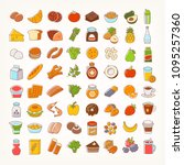set of colorful line stroke...   Shutterstock .eps vector #1095257360
