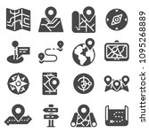 map icons and location icons... | Shutterstock .eps vector #1095268889