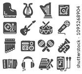 simple set of music related... | Shutterstock .eps vector #1095268904