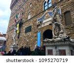 palazzo vecchio museum ... | Shutterstock . vector #1095270719