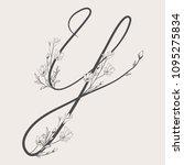 vector hand drawn flowered y...   Shutterstock .eps vector #1095275834
