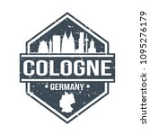 cologne germany travel stamp... | Shutterstock .eps vector #1095276179