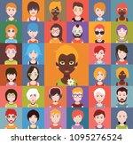 group of people men and women... | Shutterstock .eps vector #1095276524