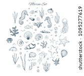 Hand Drawn Vector Marine Set...