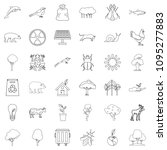animal icons set. outline style ... | Shutterstock . vector #1095277883