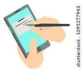write phone icon. isometric...