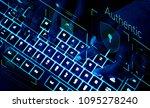 closeup of a keyboard in...   Shutterstock . vector #1095278240