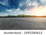 asphalt square road and hills...   Shutterstock . vector #1095280613