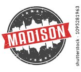 madison wisconsin round travel... | Shutterstock .eps vector #1095281963