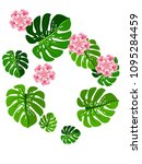 vector summer tropical pattern... | Shutterstock .eps vector #1095284459