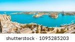 valletta  malta panorama   the... | Shutterstock . vector #1095285203