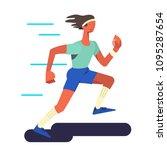 the runner. running  sportsman...   Shutterstock .eps vector #1095287654